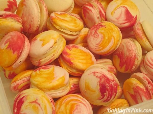 Raspberry Citrus Macarons