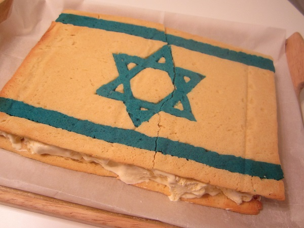 Ice Cream Sandwich Cake Israel Flag