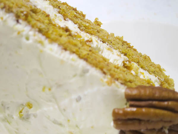 Gluten-Free Carrot Cake with Orange Cream Cheese Frosting