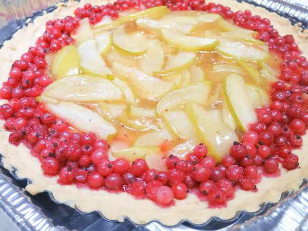 Sugar Free Apple & Redcurrant Tart