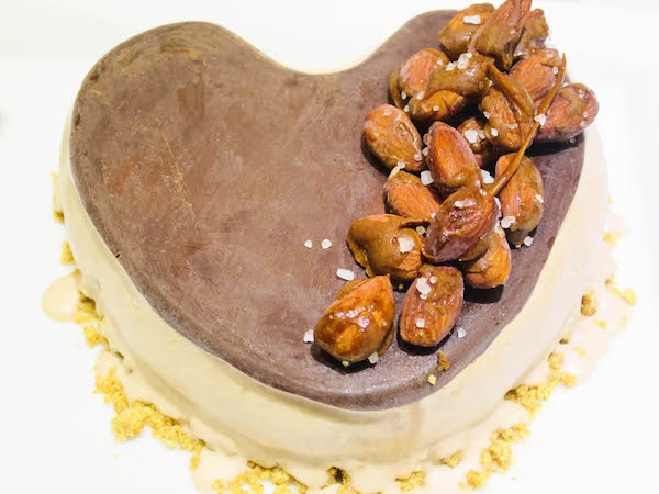 Chocolate Ice Cream Cake & Salty Caramelised Almonds