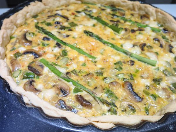 Asparagus & Mushroom Quiche