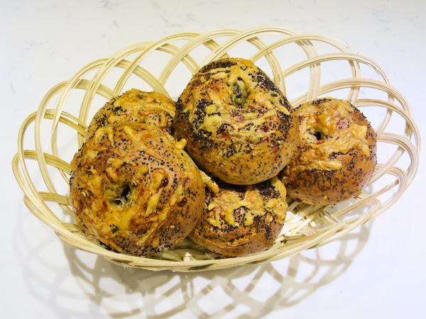 Poppy Seed Parmesan Bagels