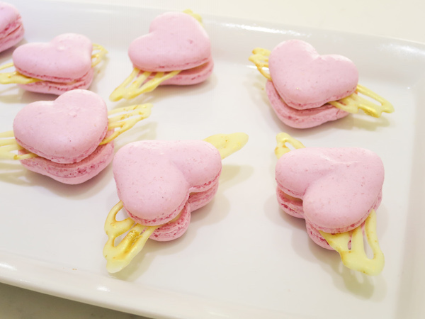 Heart Macarons With Wings
