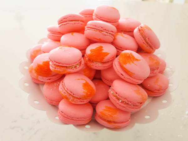 Peaches & Coconut Macarons