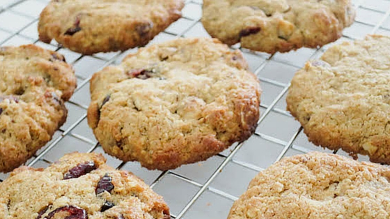 Wholesome cookies with hazelnuts & cranberries