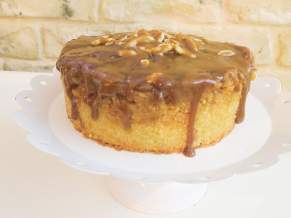 Caramel Apple Almond Cake (Gluten Free)