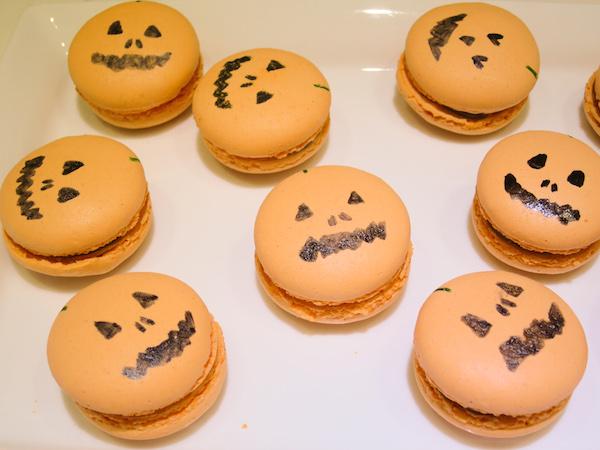 Halloween Milk Chocolate Apricot Macarons