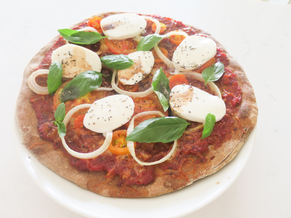 Whole Wheat Caprese Pizza