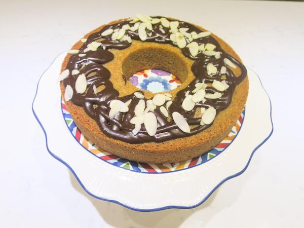 Spice Cake with Chocolate Irish Cream Icing