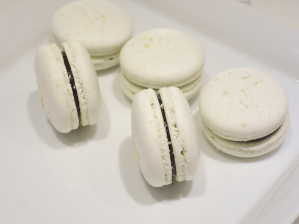 Coconut Dark Chocolate Macarons