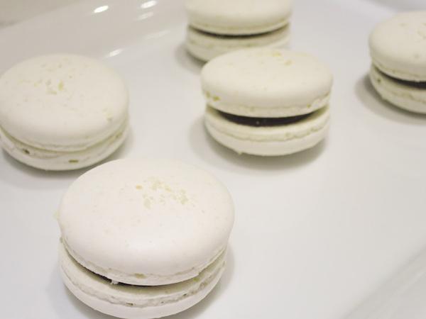 Coconut Dark Chocolate Macarons