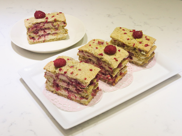 Flourless Nut Raspberry Layer Cake