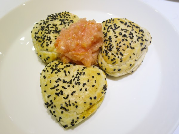 Heart Shaped Feta-Tomato Pastries - Bourekas