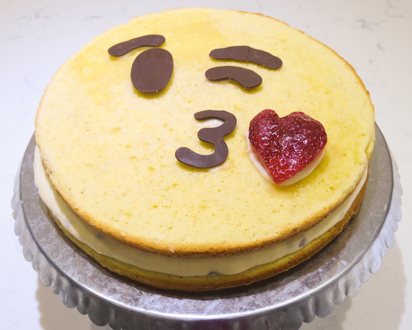 Passion Fruit Emoticon Cake