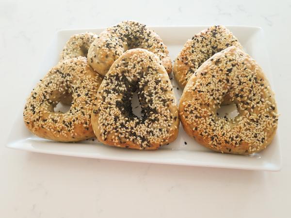 Sesame Seed Quinoa Hamantaschen Bagels