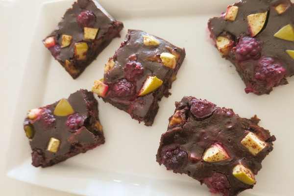 Blackberry Apple Chocolate Brownies