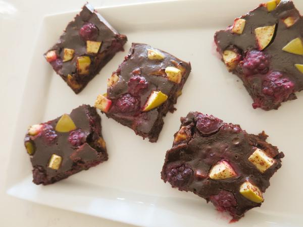 Blackberry Apple Chocolate Brownies