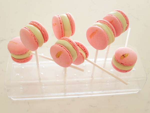 Sea Buckthorn White Chocolate Cake Pop Macarons