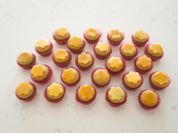 Mini Orange Papaya Cupcakes