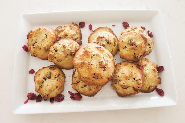 Almond Cranberry Cookies (Gluten Free & Sugar Free)