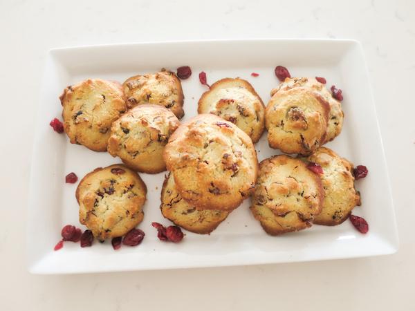 Gluten Free & Sugar Free Almond Cranberry Cookies