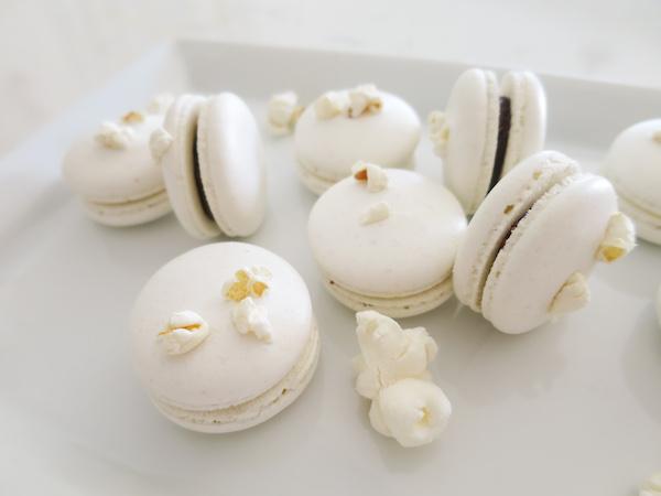 Popcorn Chocolate Macarons