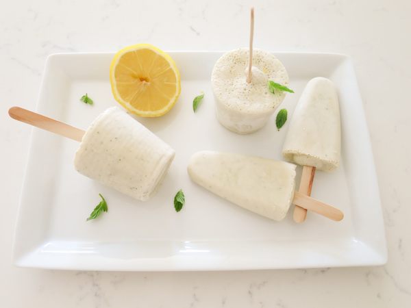 Frozen Lemon-Mint Ricotta Pops