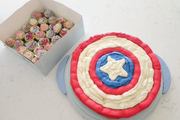Vanilla Butterscotch Cupcakes – Quick & Easy Captain America Shield Cake