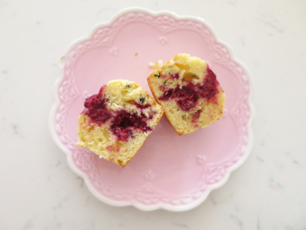 Passion Fruit Raspberry Muffins