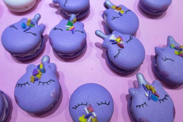 Lavender Unicorn Macarons
