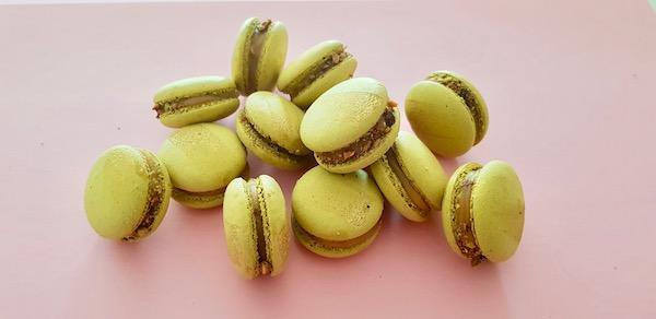 Caramel Pistachio Macarons