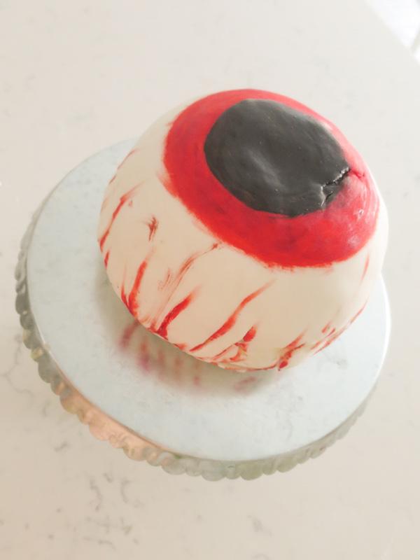 Halloween Zombie Eye Ball Chocolate Candy Cake Baking In